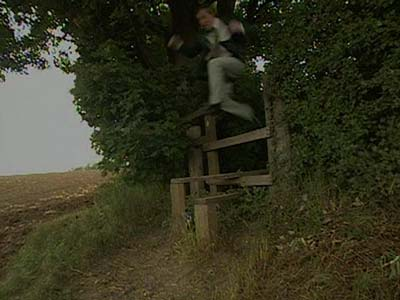 Alan Partridge running