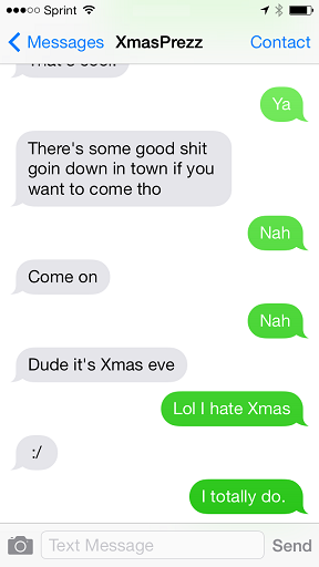 A Christmas Carol, in text message form