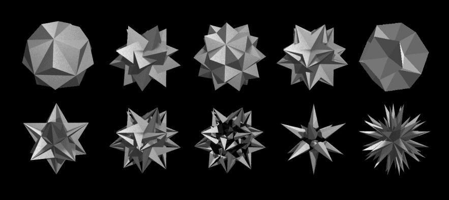 adam1 icoshaedron tesselations