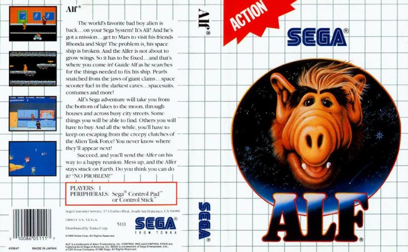 ALF Reviews: ALF, Sega Master System (1989)